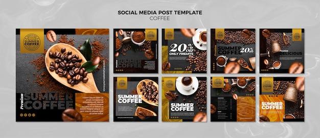 게시물 템플릿-커피 숍 소셜 미디어 무료 PSD 파일