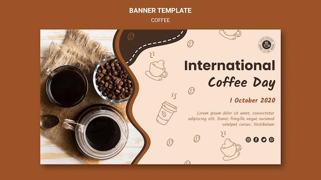 Banner modello di caffetteria Psd Gratuite