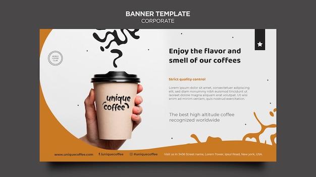 커피 숍 템플릿 배너 무료 PSD 파일