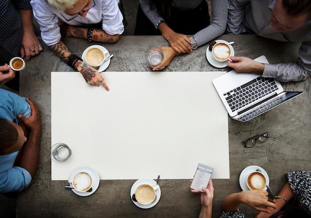 Collaboration connection team brainstorming unity Premium Psd