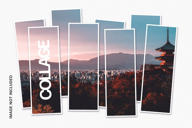 コラージュ写真テンプレート Premium Psd