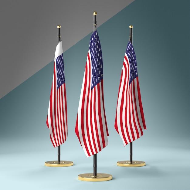 Коллекция флагов сша Бесплатные Psd
