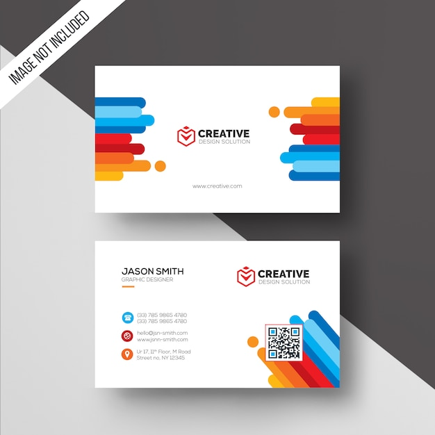 Color business card template Premium Psd
