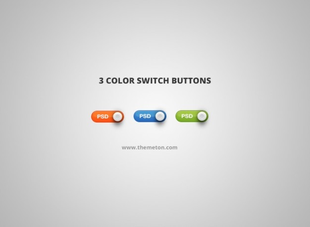 Color psd switch switch button Free Psd