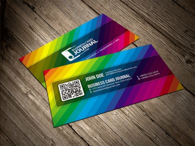 Color rainbow business card template psd file free download color rainbow business card template free psd reheart Gallery