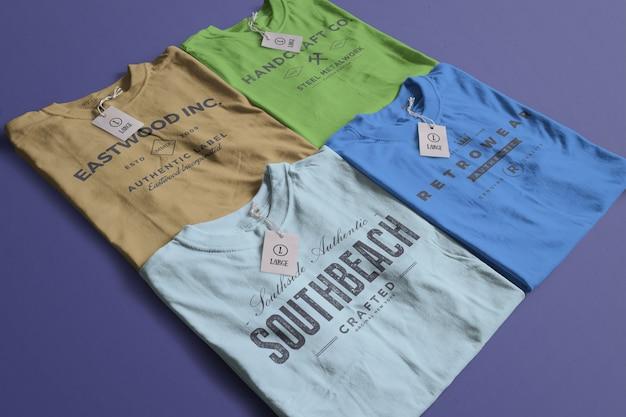 컬러 티셔츠 이랑 무료 PSD 파일