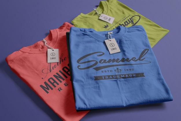 Color tshirt mockup Free Psd