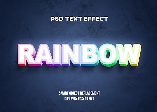 Красочный 3d текстовый эффект Premium Psd