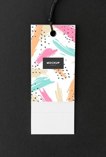 Colorful bookmark tag mockup design Free Psd