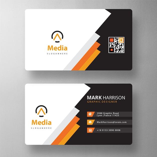Красочный макет визитной карточки Бесплатные Psd