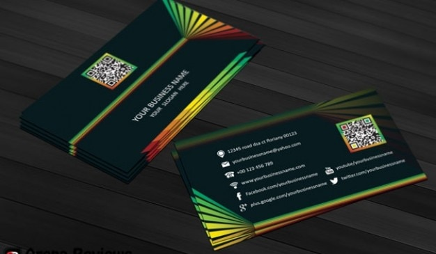 Colorful business card template psd | Free PSD File