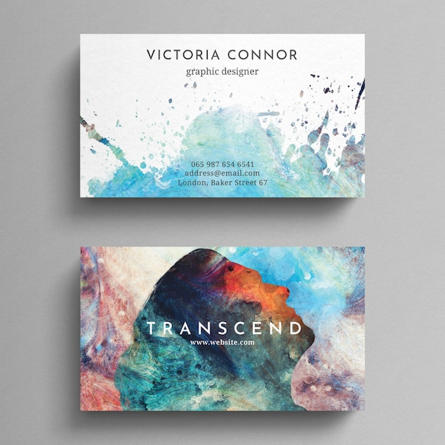 Colorful business card template psd file premium download colorful business card template premium psd reheart Images