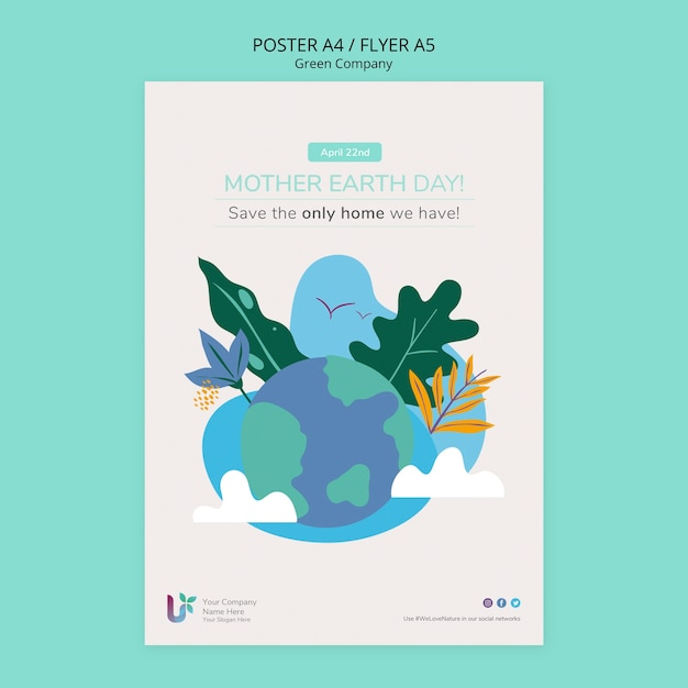 다채로운 사업 포스터 개념 모형 무료 PSD 파일