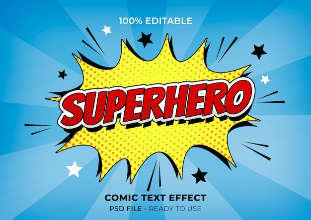 Colorful comic effect Free Psd