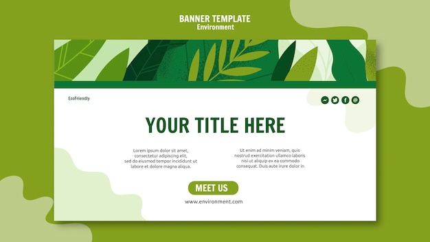 Colorful ecological banner template Free Psd