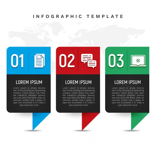 Colorful infographic template in banner style Premium Psd
