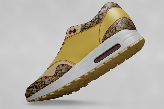 Colorful shoes mock up Premium Psd
