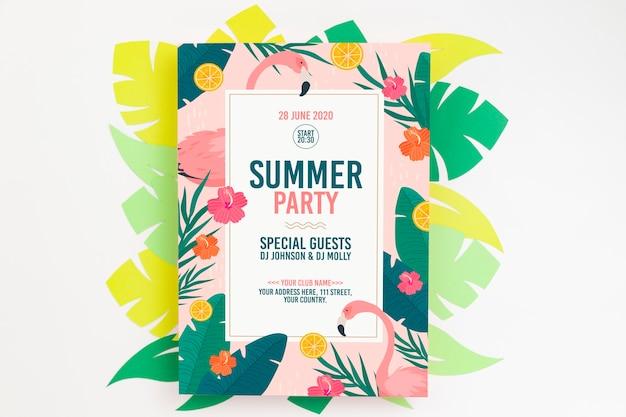 Красочный летний концепт макет Бесплатные Psd