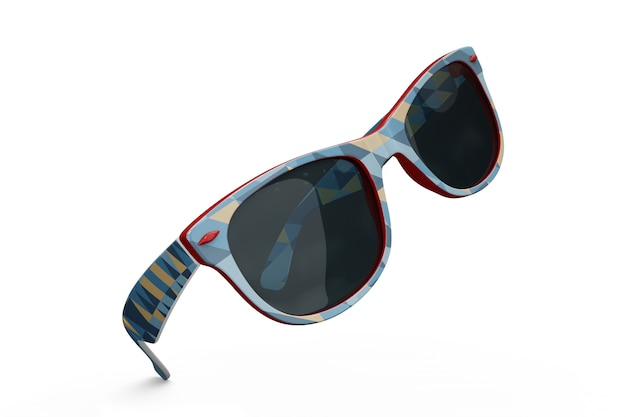 Colorful sunglasses mockup Free Psd
