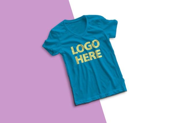 고립 된 화려한 티셔츠 모형 디자인 프리미엄 PSD 파일