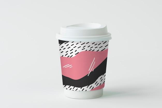 Красочный дизайн макета кофейной чашки Бесплатные Psd
