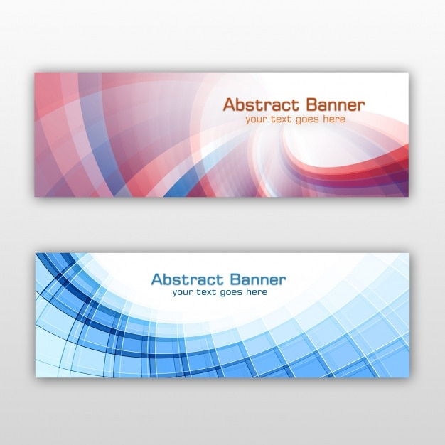 Coloured banners set Free Psd