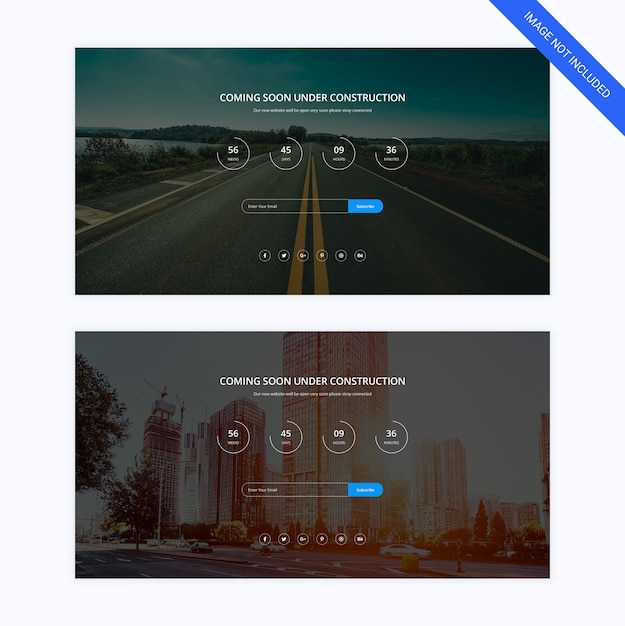 Coming soon webpage template Premium Psd