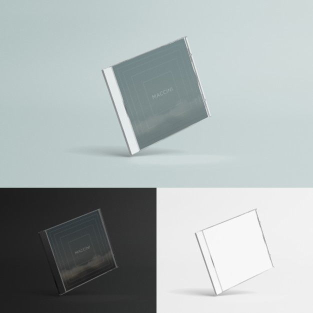 Compact disc case mock up Free Psd
