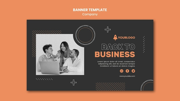 Company banner template Free Psd