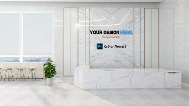 Company front desk mockup Premium Psd