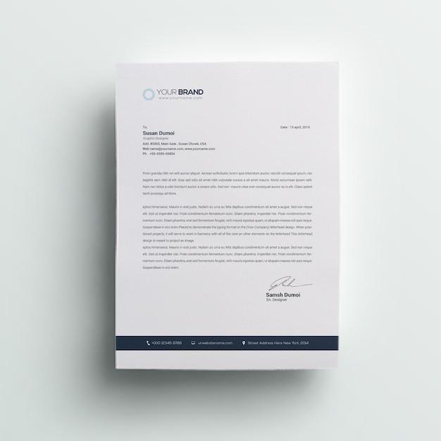 会社のプロフェッショナルレターヘッド Premium Psd