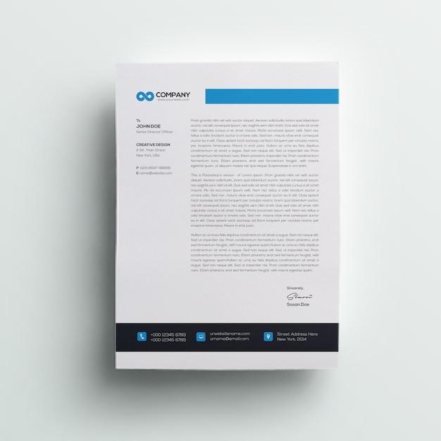 Company professional letterhead Premium Psd