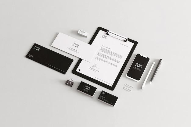 회사 문구 모형 프리미엄 PSD 파일