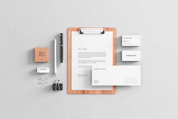 Company stationery mockup Premium Psd