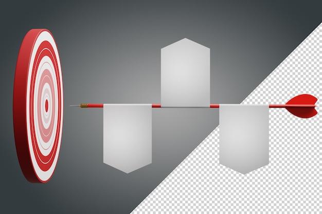 Конкурентное преимущество, концепция стратегического маркетинга 3d иллюстрация Premium Psd