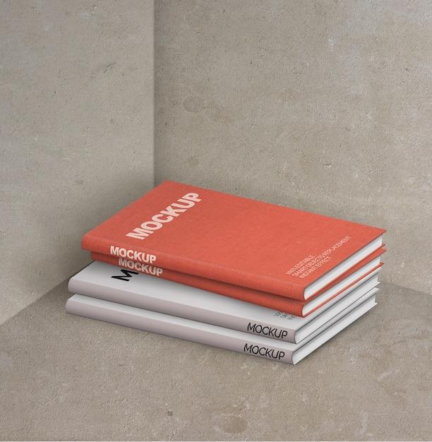 책 모형의 구성 무료 PSD 파일