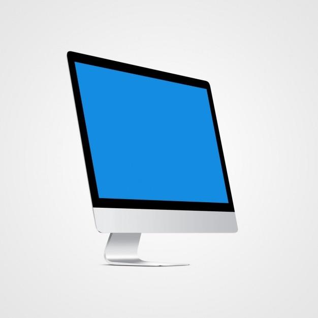Computer mock up design Free Psd