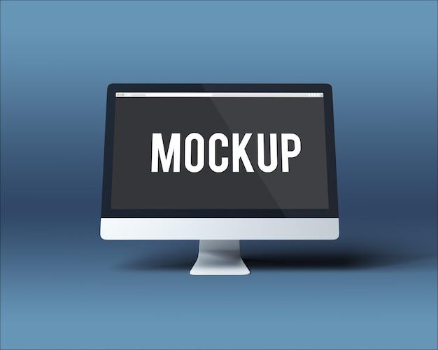 Computer screen mockup Free Psd