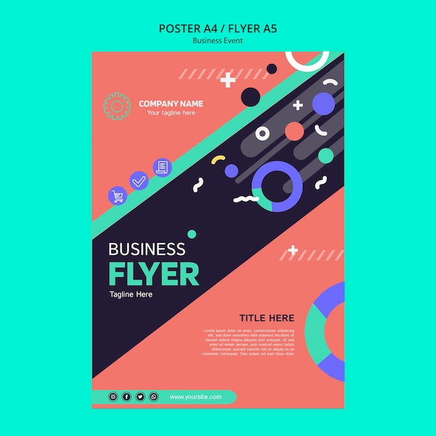 Concept for business event template Free Psd