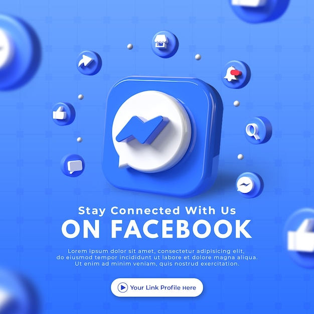 Conctact us business page promotion for facebook post mockup Premium Psd