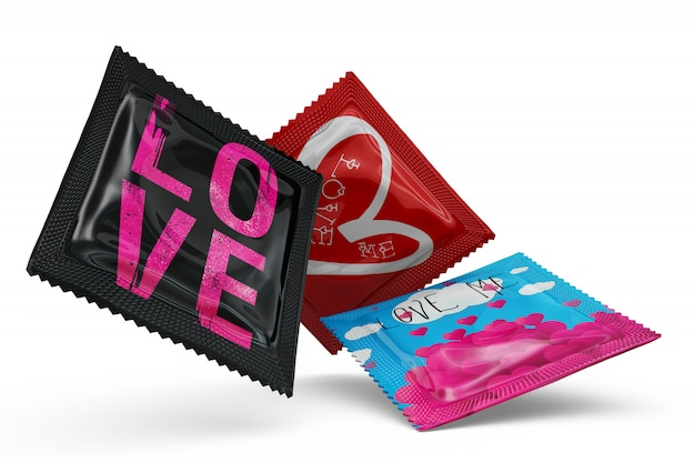 Condoms mock-up isolated Free Psd
