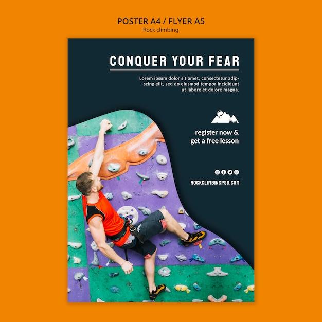 Conquista il tuo modello di volantino della paura Psd Gratuite