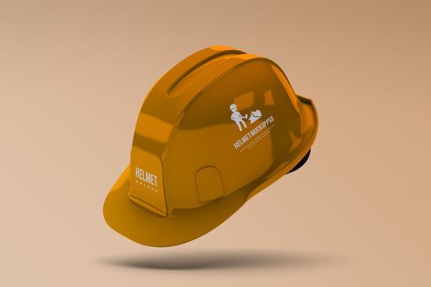 分離された建設ヘルメットモックアップ Premium Psd