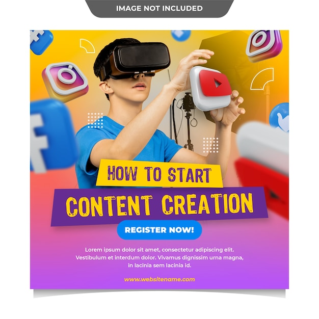Content creation social media template