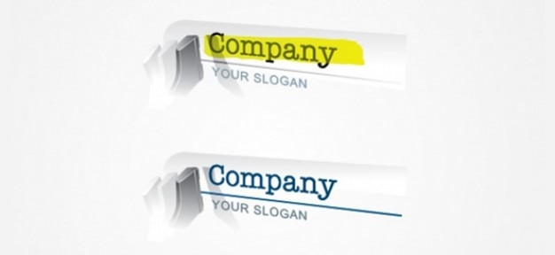Content writer logo designs Free Psd