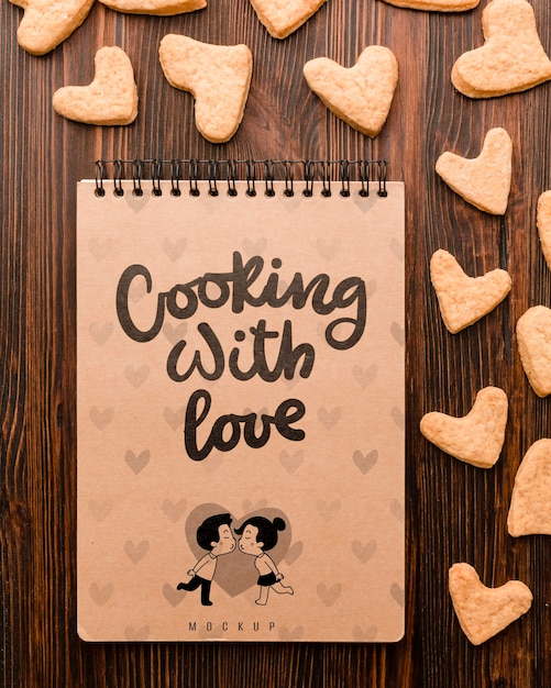 Cucinare con il concetto di amore Psd Gratuite
