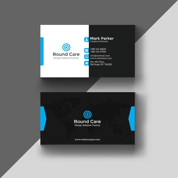 Cool business card Premium Psd