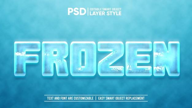 PSD mẫu hiệu ứng chữ đông lạnh khối đá lạnh
