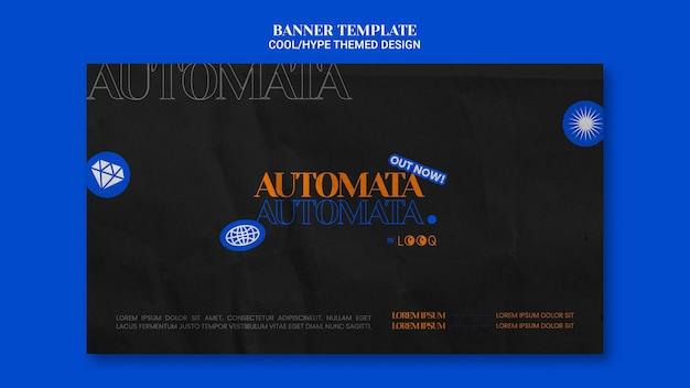 멋진 테마 디자인 배너 스타일 무료 PSD 파일