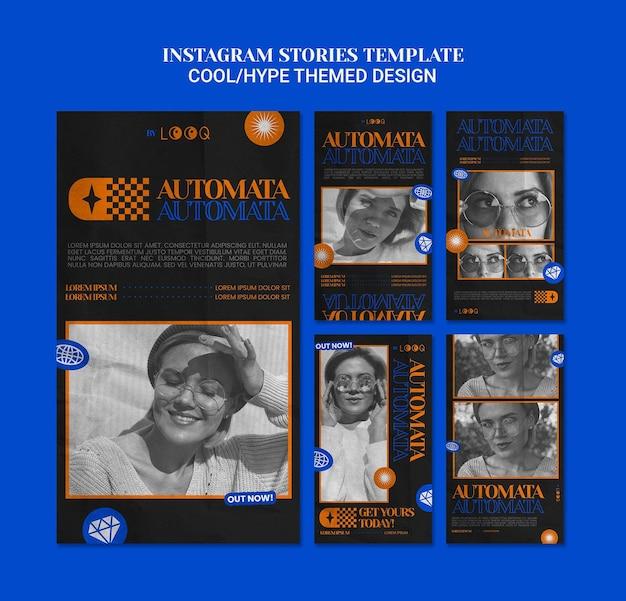 クールなテーマのデザインのinstagramストーリー 無料 Psd